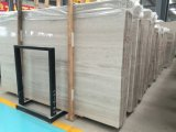 Marmo di legno bianco/marmo bianco di legno/pietra di marmo bianca della coltura