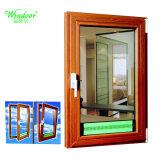 Triple vitrage isolant Fenêtre à battant en alliage en aluminium