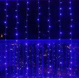 5mm 소형 LED 커튼 고드름 빛, 3m x 3m 300LEDs LED 결혼식, 당을%s 온난한 백색 끈 빛