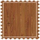 Relieve suelo laminado de madera de teca de la Junta de patrón para la decoración del piso interior