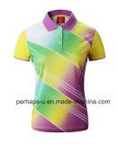 Chemise de polo faite sur commande de badminton avec le logo d'impression