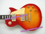 Горяче! Гитара Lp нот Afanti стандартная электрическая с пылаемой верхней частью клена (SDD-348S)