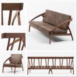Chambre à coucher Mobilier moderne en bois de hêtre de chêne en noyer tissu Salon canapé