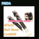 Preda 4 торцевой фрезы покрытое HRC55 носа шарика каннелюр