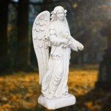 Scultura di marmo bianca di angelo