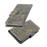 Кнопка Назад Card-Slot провод фиолетового цвета кожи мобильный телефон для бумажника дела