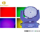 DMX RGBW 108PCS LED 동요는 이동하는 맨 위 빛을 동요했다