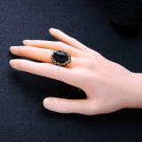 De nieuwe Eenvoudige Persoonlijke Retro Ingelegde Ring van de Vrouwen van de Legering van de Halfedelsteen en van het Bergkristal