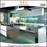 N & L'armoires de cuisine moderne en acier inoxydable
