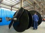 O eixo helicoidal de terra giratório mordeu para a mini máquina escavadora