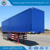 De Doos van het Koolstofstaal/Van Type Cargo Semi Aanhangwagen met As 3 Fuwa voor Vervoer van Bulkgoederen