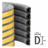 D I, e moldar borracha esponja EPDM e Vedação de Borracha raspadora de porta de madeira