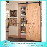 Resbalando la puerta del PVC de la puerta de madera sólida de la puerta del molde de la puerta de granero sola/doble