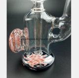 5.9 Zoll-Glaswasser-Rohr rosafarbene Gefäß-Filter-Tabak-Wiederverwertung