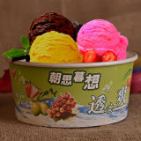 Bacia de papel descartável para o gelado ou a salada