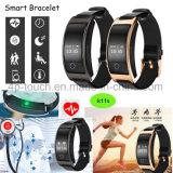 Smart Bracelete Bluetooth com a freqüência cardíaca e o Monitor de Pressão Arterial K11s