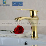 Mixer&Faucet à levier unique d'or pour la salle de bains