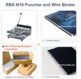 Boway Oficina Ad Rbx-N10 Cuaderno Twin doble anillo de perforación y encuadernación de alambre máquina