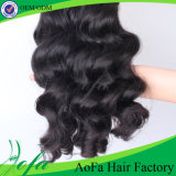 100%の加工されていないブラジルの人間の毛髪のRemyの人間のバージンの毛のよこ糸