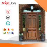固体チークの木製の正面玄関のドア