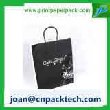 Papel de arte Perspnalized para Lembrança com saco de alça de corda de algodão