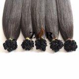 Het zwarte Haar van Prebonded van het Uiteinde van het Haar van de Kleur Natuurlijke Getrokken Braziliaanse Vlakke