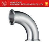 Fabricante embridado sanitario del codo de la guarnición de tubo del acero inoxidable 316L de AISI 304/,