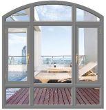 Guichet en aluminium de tissu pour rideaux d'interruption thermique de choc d'ouragan avec le dessus arqué (ACW-009)