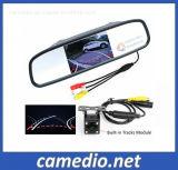 Faixas de Estacionamento HD polegadas+4.3 câmera carro Espelho Retrovisor