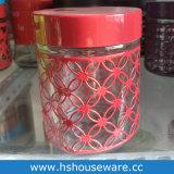 لون معدن تغطية مجموعة من مرطبان زجاجيّة