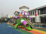 2016プラスチックMaterialおよびOutdoor Playground Type Kids Play Equipment Slides (HD16-055A)