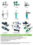Riduttore medico dell'ossigeno con la bottiglia dell'umidificatore