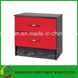 Rote hohe Glanz-u. Aschen-schwarze moderne Schlafzimmer-Möbel-Geräte u. Schlafzimmer-Sets