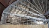 Professional Fabricant marches de l'escalier en spirale en acier galvanisé
