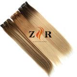 毛の拡張在庫のインドのバージンのRemyの人間の毛髪クリップ