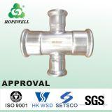 Haut de la qualité sanitaire de tuyauterie en acier inoxydable INOX 304 316 raccord de tuyau transversal