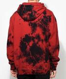 Modo rosso di cristallo Hoodie della tintura degli uomini