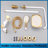 3 -フルセットの真鍮の円形のシャワー・ヘッドのシャワーセットのセット