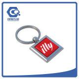 Preiswerte kundenspezifische drehende Andenken-Metallschlüsselkette