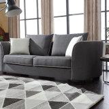 Tres de color gris oscuro tejido del asiento sofá para Salón
