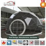 Casa verde geodésica del marco de aluminio elegante grande para cultivar