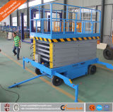 Plataforma de elevação de tesoura hidráulica industrial para comercial