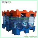 수송 플라스틱 포크리프트 물통 깔판, 5개 갤런 물통 깔판, HDPE 깔판, 물병 깔판을 겹쳐 쌓이는 플래트홈