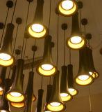Die moderne mini schwarze Aufhebung des Aluminium-LED, die hängende Lampe hängt, beleuchtet Beleuchtung für Gaststätte