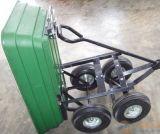 Carrinho de despejo de plástico com quatro rodas