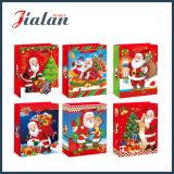 Regalos impresos baratos al por mayor de la Navidad del papel revestido pila de discos el bolso de compras