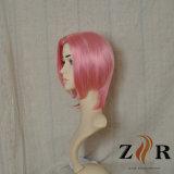 Парики волос розового цвета синтетические