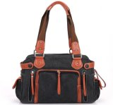 2015 Hot Sales Washed Canvas Fashion Bag Woman Canvas Handbag (SR-75C)