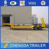3 Ejes 60 Ton Lowbed remolques con hidráulico de rampa / Escalera