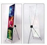 L'hôtel en aluminium escamotable portatif d'exposition de deux Sdies enroulent le stand de drapeau d'étalage